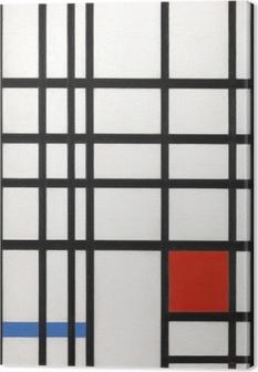 Tableau sur toile Piet Mondrian - Composition avec jaune, bleu et rouge