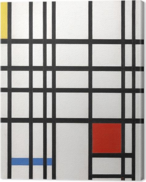 Tableau Sur Toile Piet Mondrian Composition Avec Jaune Bleu Et Rouge Pixers Nous Vivons Pour Changer