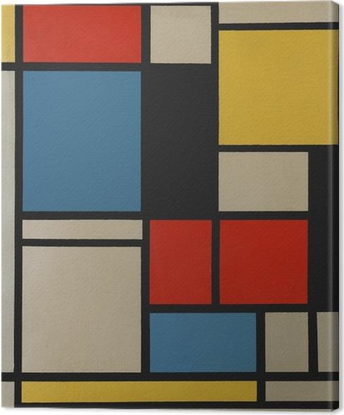 Tableau sur toile Piet Mondrian - Composition C (no III) avec rouge, jaune et bleu - Reproductions