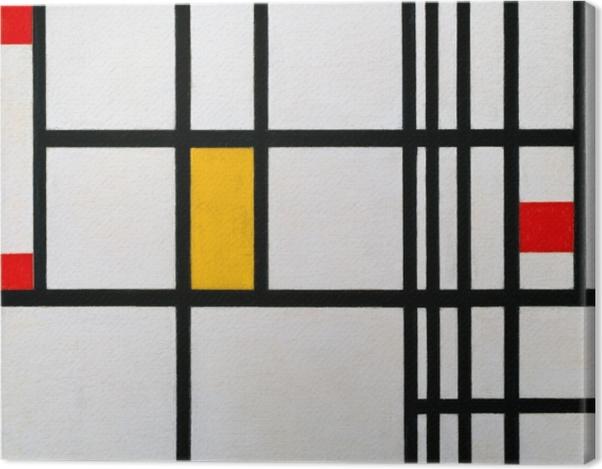 Tableau sur toile Piet Mondrian - Composition en rouge, bleu et jaune - Reproductions