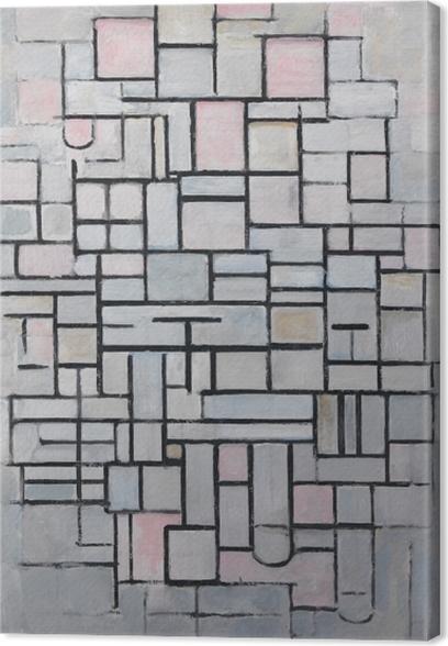 Tableau sur toile Piet Mondrian - Composition n ° 4 - Reproductions