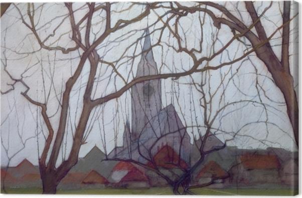 Tableau sur toile Piet Mondrian - Église de village - Reproductions