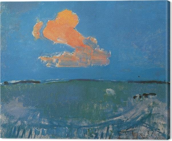 Tableau sur toile Piet Mondrian - Le nuage rouge - Reproductions