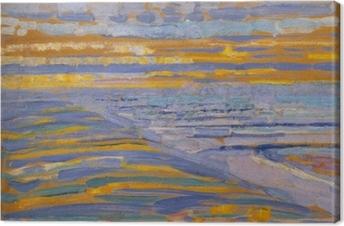 Tableau sur toile Piet Mondrian - Vue Depuis Les Dunes Avec La Plage Et La Jetée