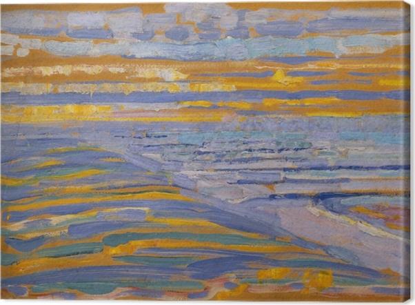 Tableau sur toile Piet Mondrian - Vue Depuis Les Dunes Avec La Plage Et La Jetée - Reproductions