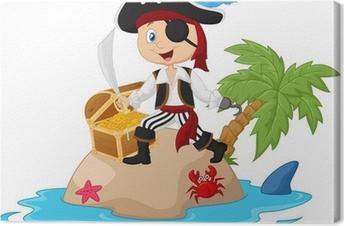 Tableau sur toile Pirate de l'île au trésor