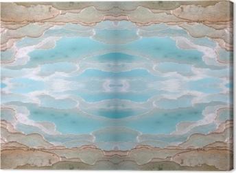 Tableau sur toile piscines de travertin et de terrasses à Pamukkale Turquie