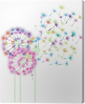 Tableau sur toile Pissenlits colorés