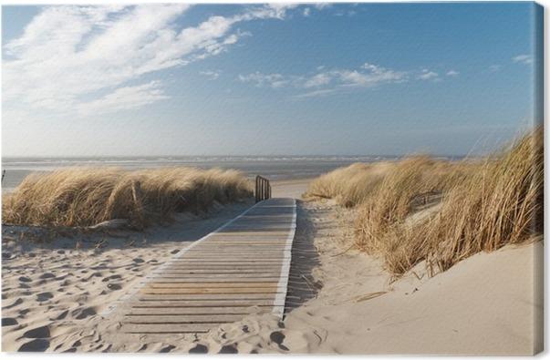 tableau sur toile plage de la mer du nord pixers nous. Black Bedroom Furniture Sets. Home Design Ideas