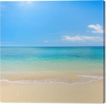 Tableaux sur toile paysage rouge pixers nous vivons - Tableaux mer et plage ...