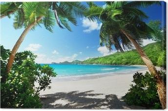 Tableau sur toile Plage, île de Mahé, Seychelles