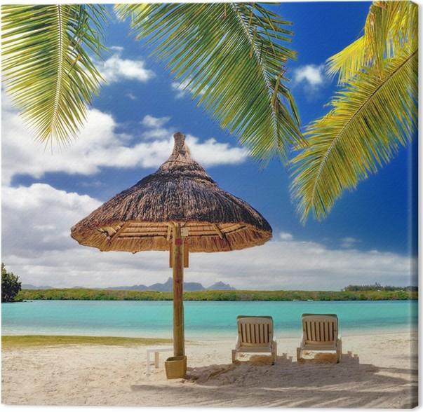 Tableau sur toile plage paradisiaque pixers nous - Image de plage paradisiaque ...