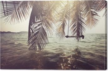 Tableau sur toile Plage tropicale