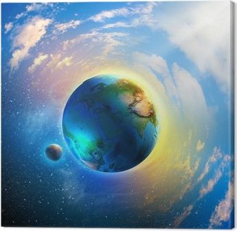 Tableau sur toile Planète terre