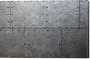 Tableau sur toile Plaques de blindage métallique fond