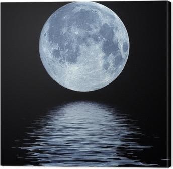 Tableau sur toile Pleine lune sur l'eau