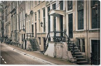 Tableau sur toile Point de vue de la vieille Amsterdam