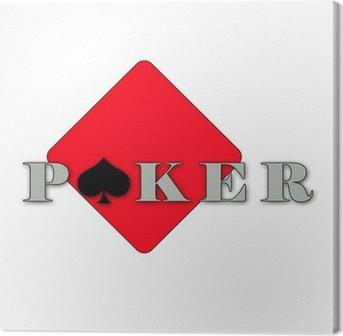 Tableau sur toile Poker logo illustration abstrait • Pixers