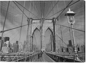 Tableaux sur toile brooklyn bridge pixers nous vivons - Toile pont de brooklyn ...