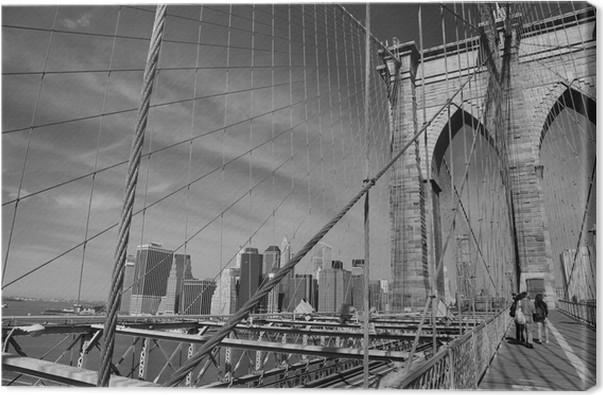 Tableau sur toile pont de brooklyn new york pixers - Toile pont de brooklyn ...