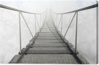Tableau sur toile Pont de corde Above The Clouds