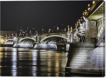 Tableau sur toile Ponte Budapest
