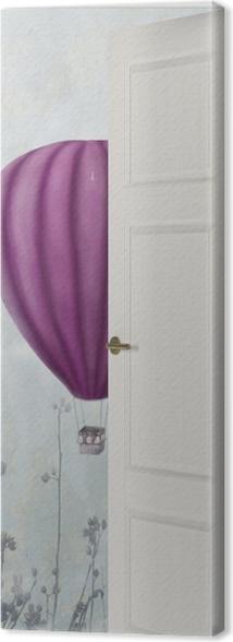 Tableau sur toile Porte Blanche - Ballons Dans Le Ciel -