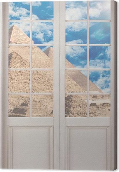 Tableau sur toile Porte Blanche - Egypte - La vue à travers la porte