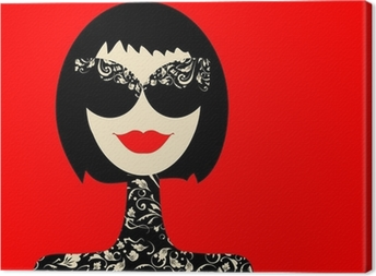 Tableau sur toile Portrait de femme de mode pour votre conception