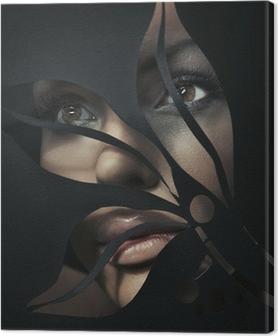 Tableau sur toile Portrait en forme d'une belle femme