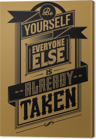 Tableau sur toile Poster Motivant -