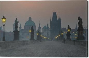 Tableau sur toile Prague charles bridge