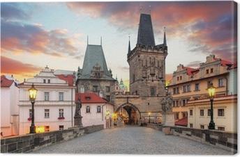 Tableau sur toile Prague, vue depuis le pont Charles