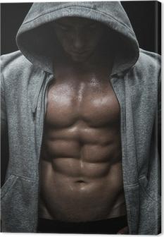 Tableau sur toile Près d'homme musclé de sport après l'entraînement de musculation
