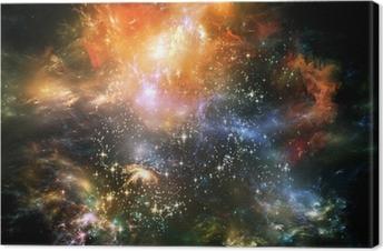 Tableau sur toile Propagation de l'espace