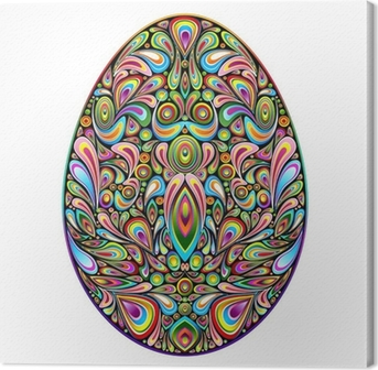 Tableau sur toile Psychedelic Art Design Easter Egg Easter Egg ornementale