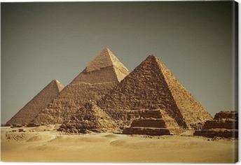 Tableau sur toile Pyramides de Gizeh - / Egypte