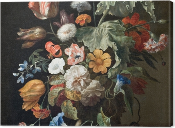 Tableau sur toile Rachel Ruysch - Still-Life with Flowers - Reproductions