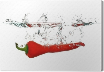 Tableau sur toile Red-Pepper Splash-