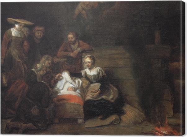 Tableau sur toile Rembrandt - Adoration des bergers - Reproductions