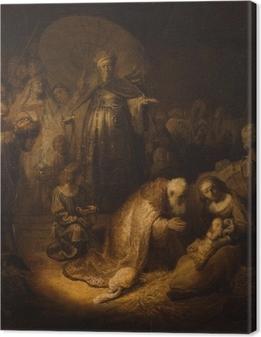Tableau sur toile Rembrandt - Adoration des mages