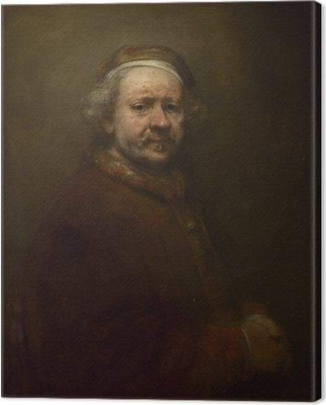 Tableau sur toile Rembrandt - Autoportrait à l'âge de 63 ans - Reproductions