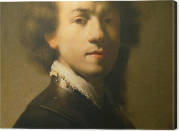 Tableau sur toile Rembrandt - Autoportrait avec Gorget et Beret - Reproductions