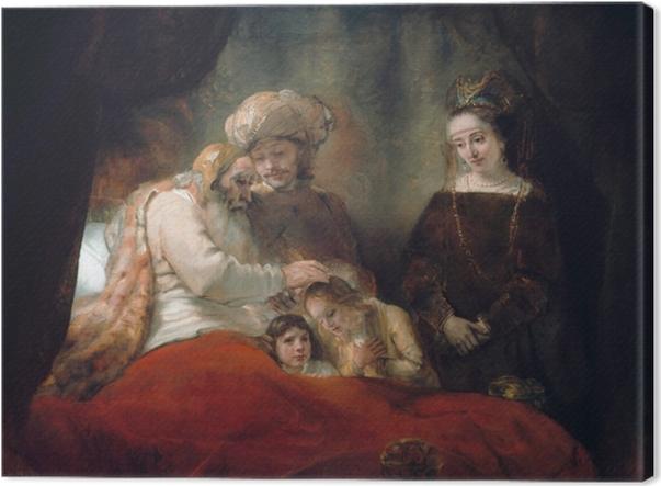 Tableau sur toile Rembrandt - Bénédiction de Jacob - Reproductions