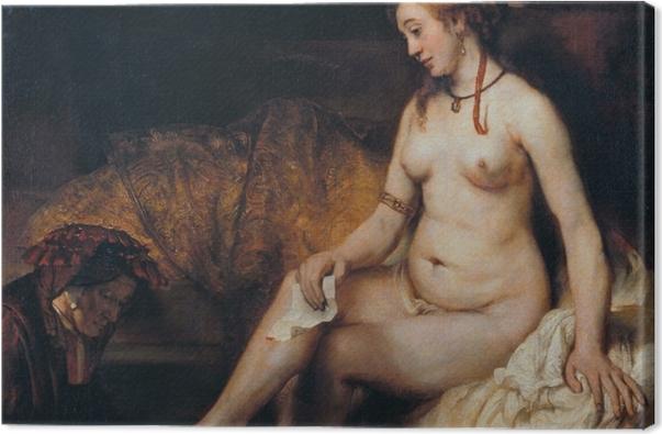 Tableau sur toile Rembrandt - Bethsabée au bain - Reproductions