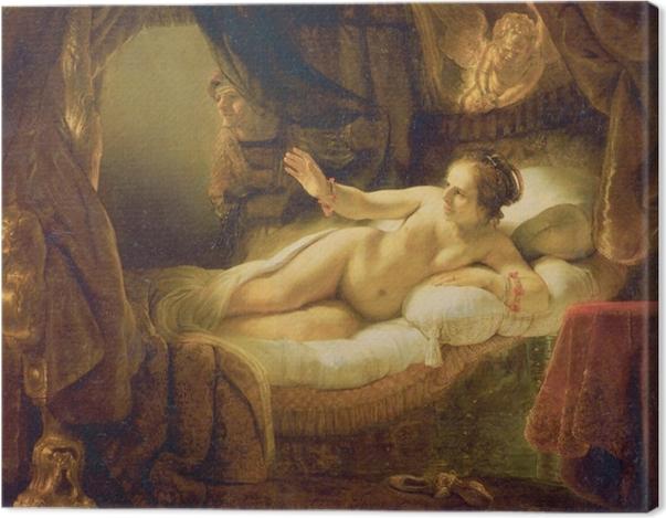 Tableau sur toile Rembrandt - Danae - Reproductions
