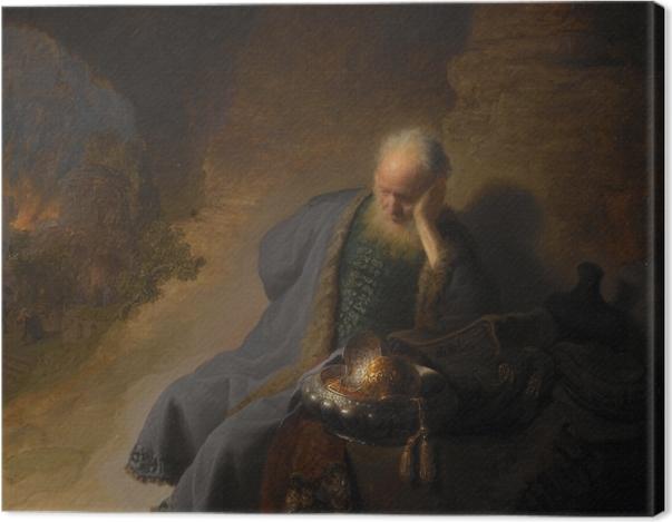 Tableau sur toile Rembrandt - Jérémie pleurant la destruction de Jerusalem - Reproductions