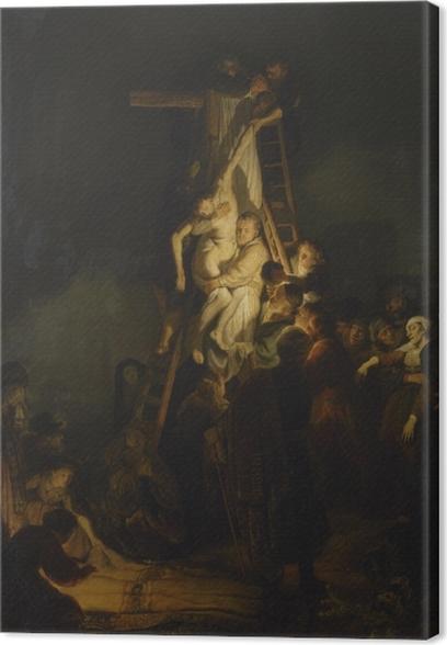 Tableau sur toile Rembrandt - La Descente de Croix - Reproductions