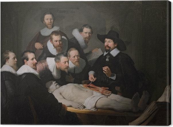 Tableau sur toile Rembrandt - La Leçon d'anatomie du docteur Tulp - Reproductions