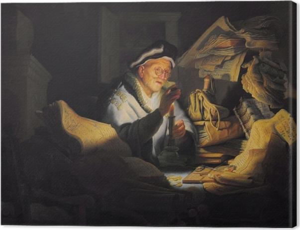 Tableau sur toile Rembrandt - La Parabole de l'Homme riche - Reproductions